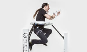 Cyberith's Virtualizer … A baby-bouncer crossed with a treadmill?