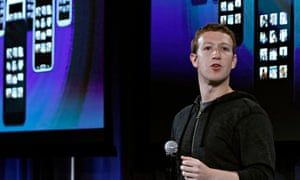 Mark Zuckerberg, Facebook's co-founder and chief executive during a Facebook event