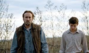 Nicolas Cage, left, and Tye Sheridan in Joe