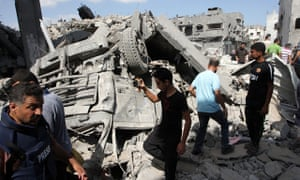the Shejaia neighbourhood, which witnesses said was heavily hit by Israeli shelling