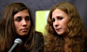 Nadezhda Tolokonnikova (left) and Maria Alyokhina