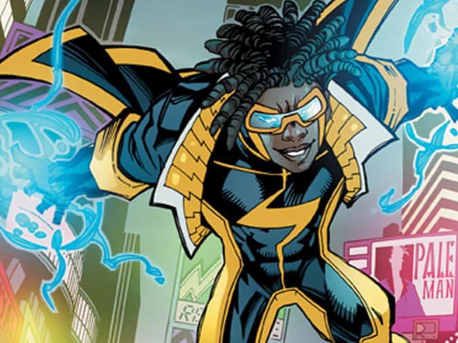 static shock african american comic book