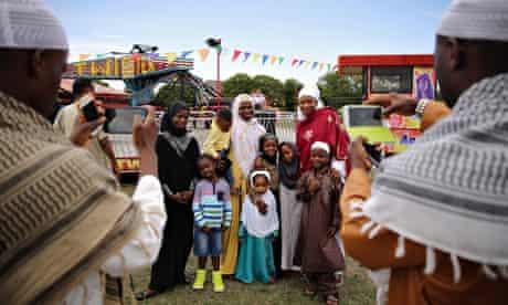Family celebrate Eid