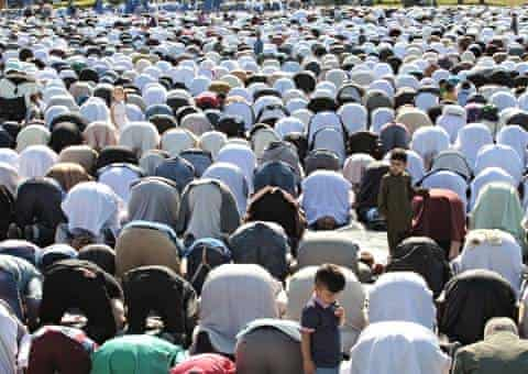 Eid prayers in Small Heath Park, Birmingham