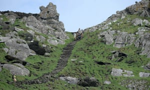 Production crew arrive on Skellig Michael