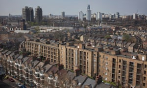 View over the rooftops from Elephant and Castle, London