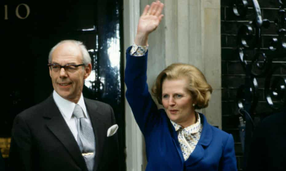 Margaret Thatcher waves to well-wishers outside 10 Downing Street following her election victory, on 4 May 1979.
