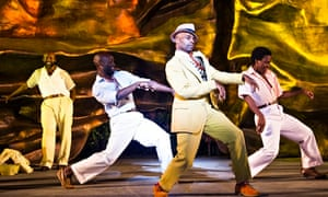 Cedric Neal, centre, in Porgy and Bess at Regent's Park Open-Air Theatre, London