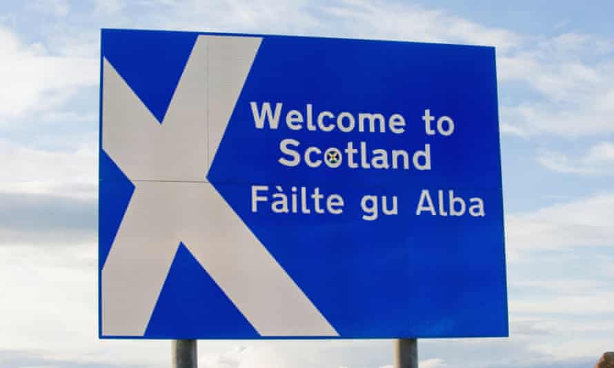 Welcome to Scotland roadside sign.