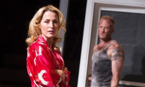 Ben Foster (Stanley Kowalski) and Gillian Anderson (Blanche DuBois) in A Streetcar Named Desire