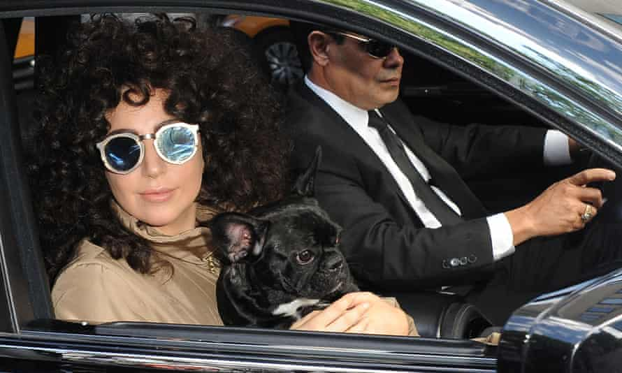 Singer Lady Gaga is seen heading to a recording studio on July 28, 2014 in New York City.  (Photo by Raymond Hall/GC Images)