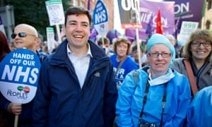 Andy Burnham at TUC march in September 2013