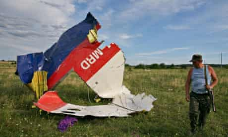 wreckage from the Malaysia Airlines 777 shot down over Ukraine