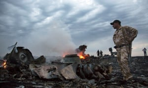 Debris of MH17 is scattered near the village of Grabovo in eastern Ukraine where the plane was shot down