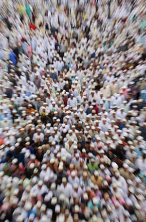 Muslims offer prayers in Bhopal, India