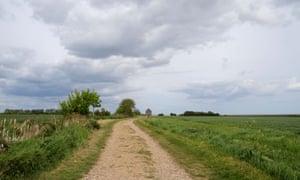 Path leading to Saint Peter on the Wall chapel, Bradwell on Sea, Essex.