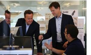 Prime Minister David Cameron And Deputy Prime Minister Nick Clegg Visit Pentland Brands