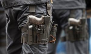 A Heckler & Koch P30 handgun german police