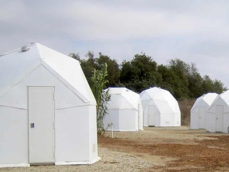 U-Dome refugee shelter