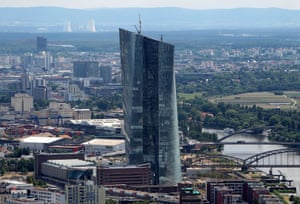 The new building of the European Central Bank headquarters (ECB Tower) under construction in Frankfurt am Main, western Germany on June 26, 2014.