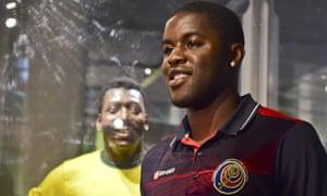 Costa Rica's forward Joel Campbell smile