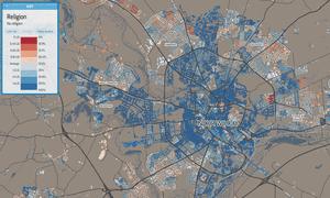 Norwich religion map