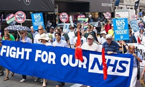 protest against NHS cuts