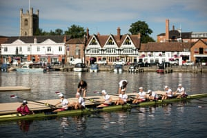 Rowers prepare to compete in the Royal Regatta in Henley-on-Thames