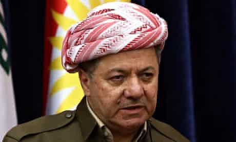 Iraqi Kurdish leader, Massoud Barzani