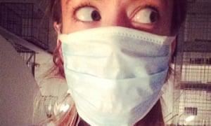 Laura Barton in mask