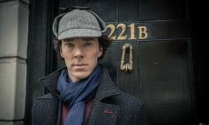 Benedict Cumberbatch as Sherlock Holmes in the BBC drama