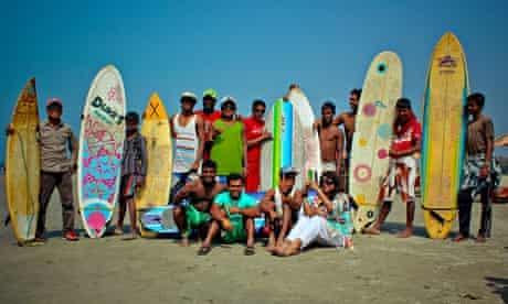 Bangladesh's fledgling surf on Sonadia island, off Cox's Bazar.