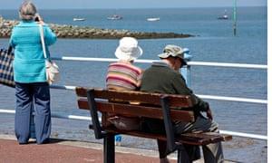 pensioners seaside