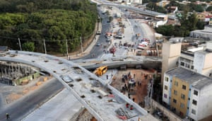 Part of a motorway under construction in Belo Horizonte, one of the World Cup 2014 host cities, collapsed onto a passing bus, killing one person and injuring seven more.