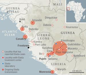 Ebola outbreak map WEB