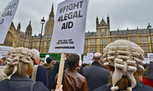 Demonstration against proposed changes to Legal Aid