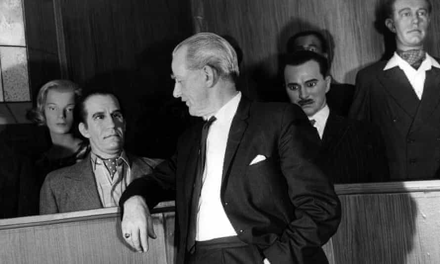 In the dock: Harry Allen at Madame Tussauds' dock of Britain's worst criminals – some of whom he was involved in executing.