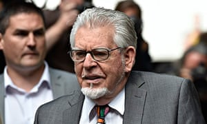 Rolf Harris arrives for sentencing at Southwark crown court in July