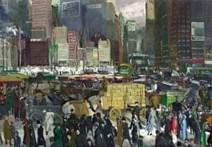 George Bellows - skyscrapers in art