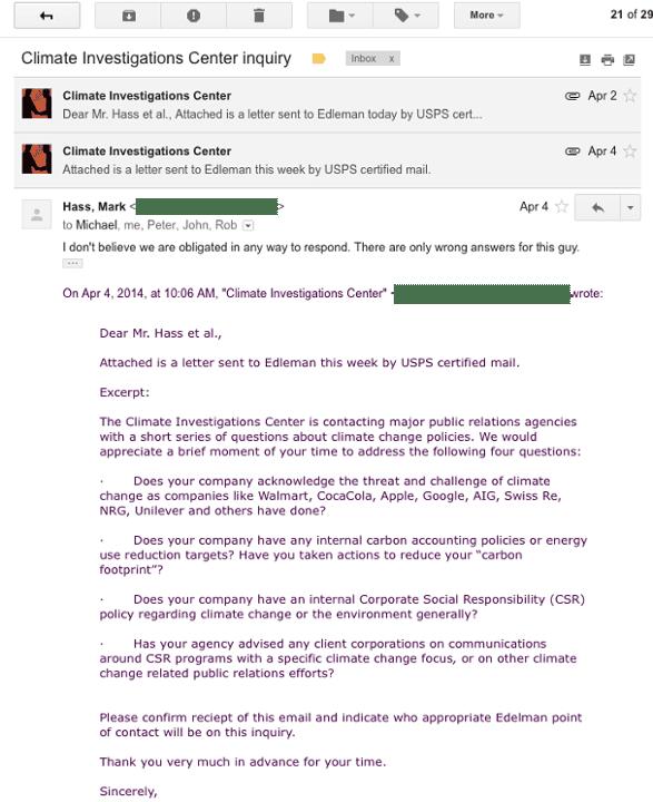 Edelman PR email