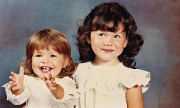 Holly and kelly willoughby as children
