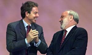 Frank Dobson with Tony Blair