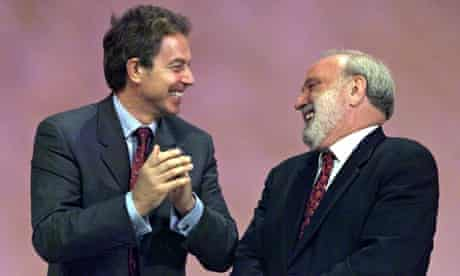 Frank Dobson with Tony Blair