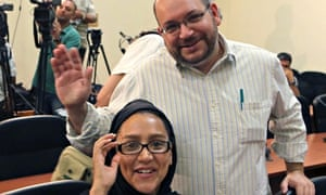 Jason Rezaian and wife