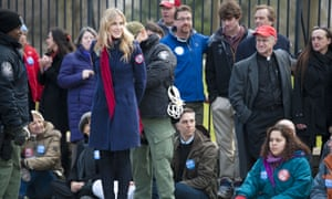 Daryl Hannah is handcuffed and arrested during the Keystone XL Pipeline Protest in Washington, DC.