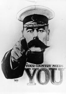 'Your Country Needs You' first world war recruiting poster, featuring Lord Kitchener