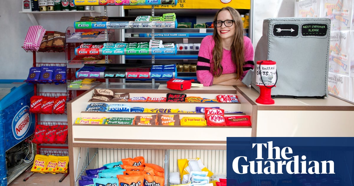 Artist's newsagent shop made entirely from felt looks sew real – in pictures