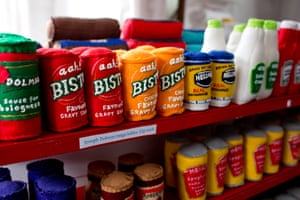Bisto, mayonnaise and polish, all made from felt