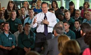 David Cameron at United Utilities in Warrington