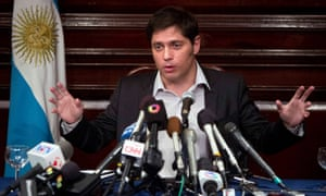 Argentina's Economy Minister Axel Kicillof speaks to the media at a press conference at the Argentine Consulate in New York July 30, 2014.